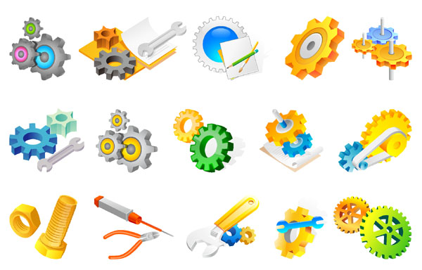 Mechanics Vector Icons.