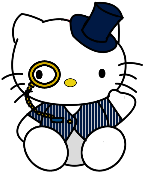 monocle steampunk kitty